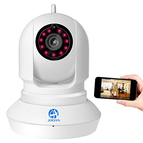 JOOAN HD 720p P2P WLAN IP Netzwerkkamera Pan & Tilt(11 LED Infrarot Nachtsicht, 2-Wege Audio)Überwachungskamera