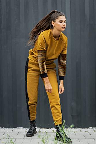 THOKKTHOKK Damen Sweatshirt Olivgrün Bio Fair, Größe:L - 3