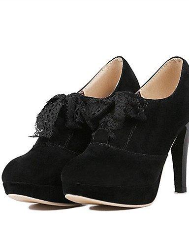 WSS 2016 Chaussures Femme-Mariage / Habillé / Décontracté / Soirée & Evénement-Noir / Rouge / Poil de Chameau-Talon Aiguille-Talons-Talons-Laine red-us4-4.5 / eu34 / uk2-2.5 / cn33
