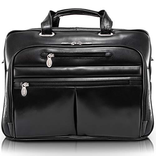 McKlein Rockford 17 Zoll Aktenkoffer schwarz - Notebooktasche (Tasche, 43,2 cm (17 Zoll), 2,27 kg, schwarz) -