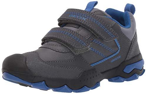 Geox J BULLER Boy D, Zapatillas para Niños, Gris (Dk Grey/Royal C0071), 24 EU