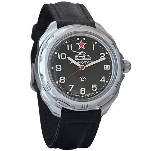 Vostok komandirskie 2415serbatoio 211306Russo militare orologio meccanico