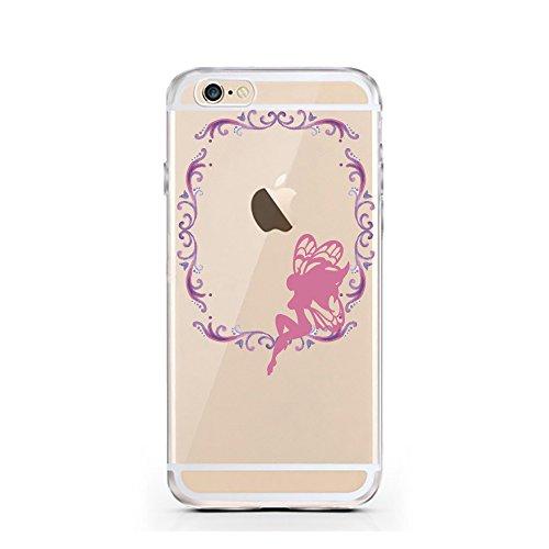 "licaso® iPhone TPU Hülle Disney Case Tinkerbell Butterfly Elfe Märchen transparent klare Schutzhülle Disney Hülle iphone6 Tasche Case (iPhone 6 6S 4.7"", Tinkerbell Butterfly) Tinkerbell träumt"