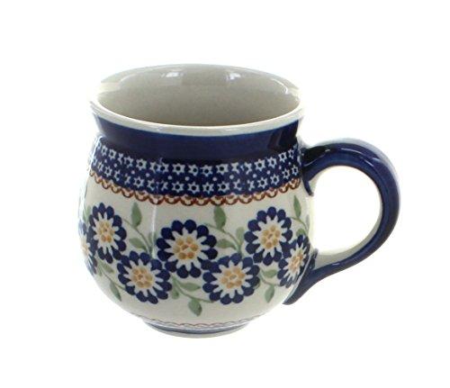 polish-pottery-peach-blossom-bubble-mug-by-blue-rose-pottery