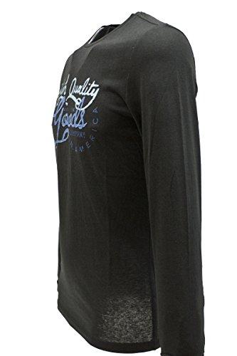 """Blend of America Longsleeve T-Shirt """"Jeans"""" in 4 Farben Schwarz"""