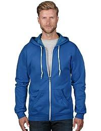 Anvil Fashion Full Zip Hooded Sweatshirt Mens Royal Blue XL