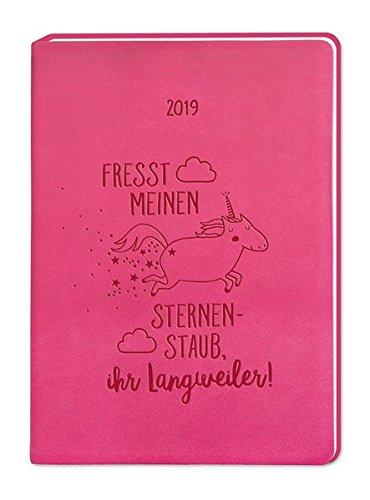 Terminplaner Lederlook A6 'Pink (Einhorn)' 2019