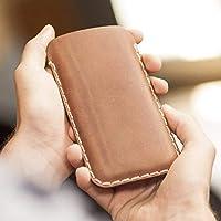 Marrone scuro caso in pelle custodia per Samsung Galaxy S9 S8 cover case
