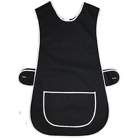 Delantal Plain armadura de trabajo para mujer Home de colores bolsillo grande lado tabardos sistema de fijación de para cama individual
