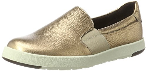 AerosolesBoard Ship Miami Gold   Mocasines Mujer, Color Dorado, Talla 40.5 EU (7 UK)