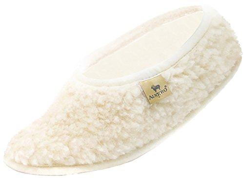 Alwero Hausschuhe Damen Winter Warme Pantoffel Herren Winter Unisex Wärme Pantoffeln (43-44, Ballerinas: Natural)