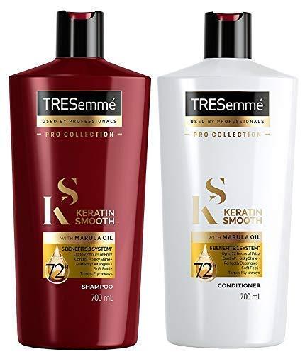 Tresemme Keratin Glatt XL Shampoo und Spülung - 700ml Jedes -