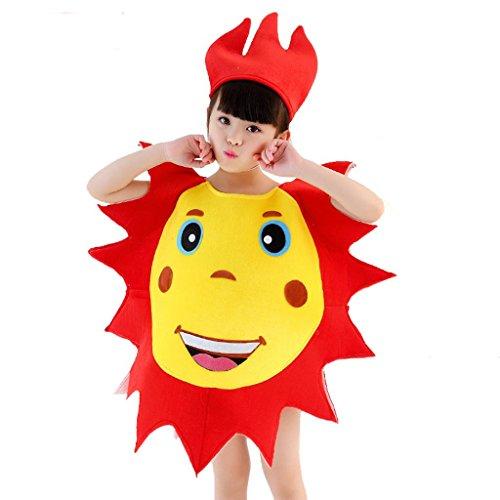Byjia scuola materna abbigliamento da ballo per ragazzi scuola giochi party classici ragazzi classici ragazze indossano bambini bambini studenti di gruppo gruppo mondiale frutta e verdure 1# xxl