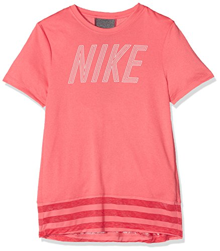Nike Mädchen Dry Top Core T-Shirt Sea Coral/Dark Grey M
