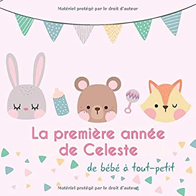 La première année de Celeste - de bébé à tout-petit: Album bébé à remplir pour la première année de vie - Album naissance fille