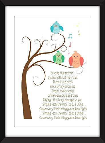 bob-marley-three-little-birds-lyrics-print-perfect-for-childs-bedroom-bob-marley-for-kids-reggae-pri
