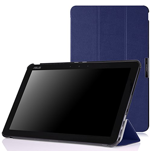 MoKo ASUS Transformer Book T300 Hülle Case - Ultra Slim PU Leder Tasche Schutzhülle Ledertasche Smart Cover mit Standfunktion für ASUS T300 Chi 12.5 Zoll 2015 Version Windows 8.1 Tablet,Marineblau