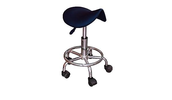 Sgabello ergonomico gk con ruote nero regolabile in altezza