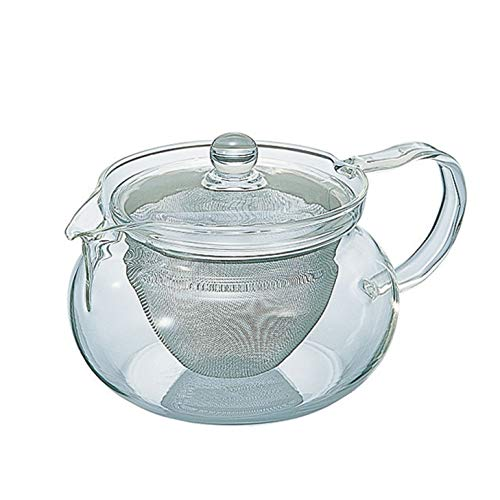 Hario Chacha-Maru 450ml Glass Teapot with Stainless Infuser CHJMN-45T from Japan