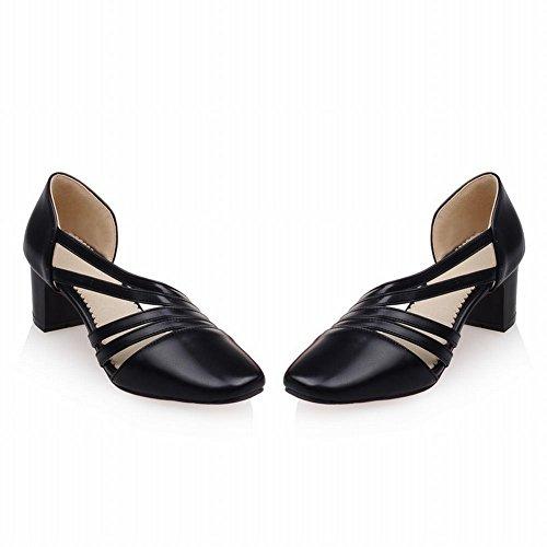 Damen bequem chunky heels Plateau Sandalen (36, Silber) Mee Shoes