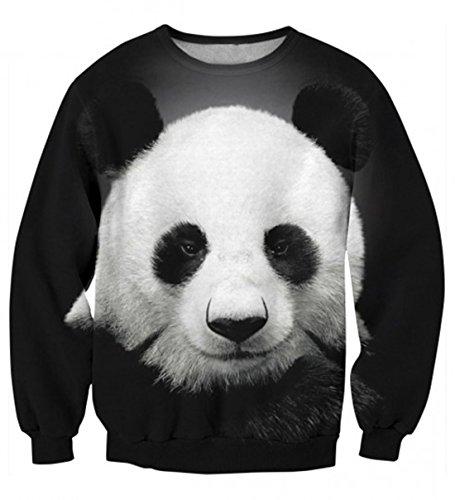 Yichun - Maglione da donna, con stampa, stile casual Panda