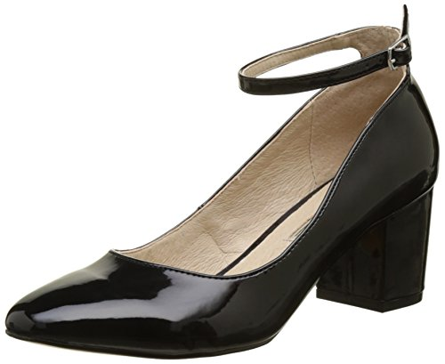 Buffalo Shoes Damen 15P54-1 PU Patent Pumps, Schwarz (Black 01), 36 EU