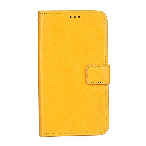 Bluboo S1 Brieftasche Hülle PU+TPU Kunstleder Handyfall für Bluboo S1 mit Stand Funktion Ein Stent-Funktion (Gelb)