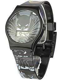 Batman BAT4DC - Reloj de cuarzo, para niño, con correa de plástico, color negro y gris