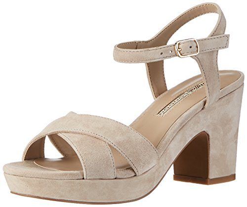 Buffalo London Damen 316-3373 Kid Suede Knöchelriemchen, Beige (Nude 01), 37 EU