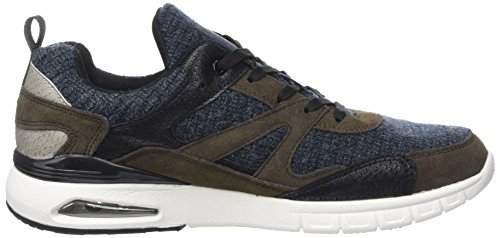 British Knights Demon, Baskets Basses Homme Bleu (Navy/Dk Taupe/Black)