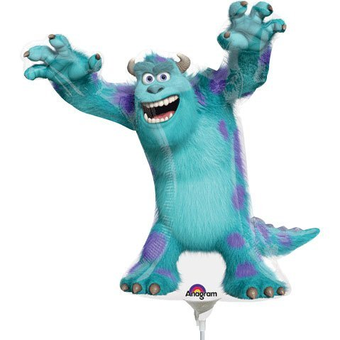 Folienballon Monster University Sulley, unbefüllt