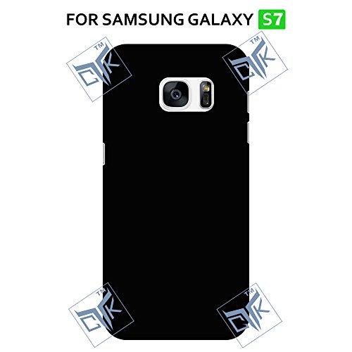 TheGiftKart ULTRA Premium Matte Rubberized Velvet Feel Hard Back Cover for Samsung Galaxy S7 – Jet Black