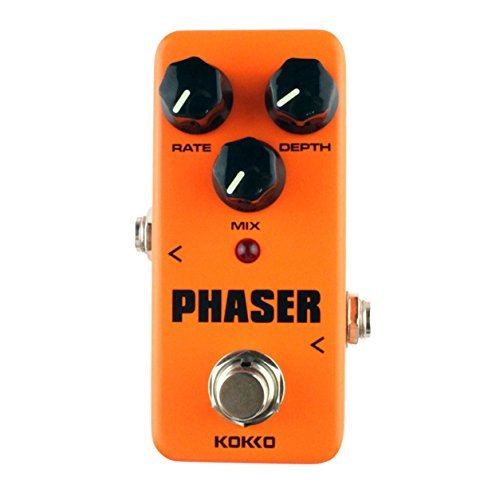 KOKKO FPH2 Phaser Mini Guitar Effect Pedal Processore audio analogico a fase calda (colore: arancione)