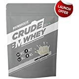 Bigmuscles Nutrition Crude Whey 1kg, Whey Protein Concentrate 80%, 24g Protein, 5.5g BCAA, 4 g Glutamine