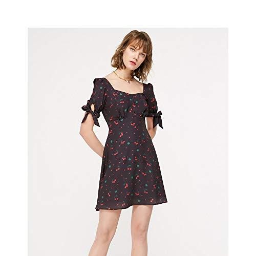 UOYJN Woman Dress Summer Girl Cute A Word Chiffon Dress Female
