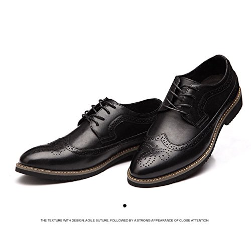 Hommes Chaussures New Hommes Chaussures Respirant En Cuir Rétro Angleterre Casual Chaussures Noir