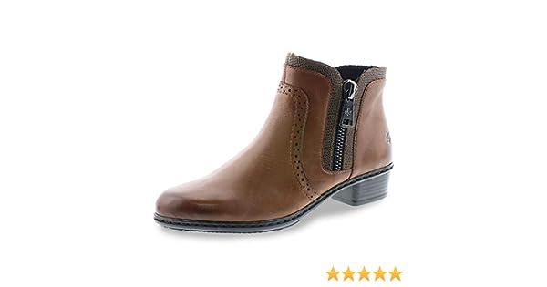 Rieker Cristallino-Ambor Schuhe Damen Antistress Stiefeletten Stiefel Y0727-22