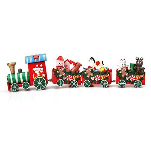 Gusspower Weihnachten Woods Kleine Zug Klassische Spielzeug Zug, Kinder Kindergarten Festliche Kinder Party Dekorationen Dekor Geschenk (A) (Weihnachten Zug Dekorationen)