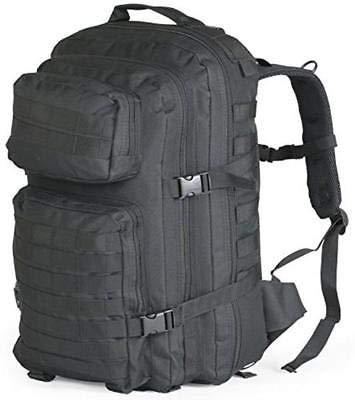 Generic Pack BagE Sac à Dos avec Sangles d'assaut Grande armée Militaire Noir Tactical Patrouille Molle Grand Sac à Dos Militaire