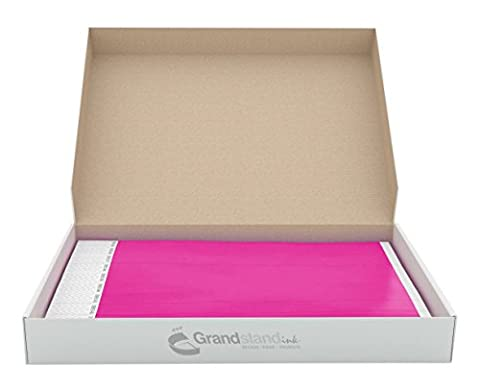 19mm Neon Pink GrandstandStore.com Tyvek Event Wristbands for easy vip identification - 500CT BOX