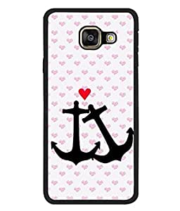 PrintVisa Anchor Heart High Gloss Designer Back Case Cover for Samsung Galaxy A7 (6) 2016 :: Samsung Galaxy A7 2016 Duos :: Samsung Galaxy A7 2016 A710F A710M A710Fd A7100 A710Y :: Samsung Galaxy A7 A710 2016 Edition