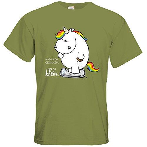 getshirts - Pummeleinhorn - T-Shirt - Gewogen Green Moss
