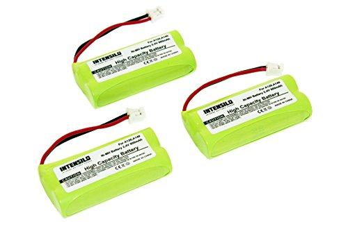 INTENSILO 3x NiMH baterías 800mAh (2.4V) para inalámbrico fijo teléfono Siemens Gigaset AL110, AL110 Duo, AL110 Trio, AL110a y V30145-K1310-X359.