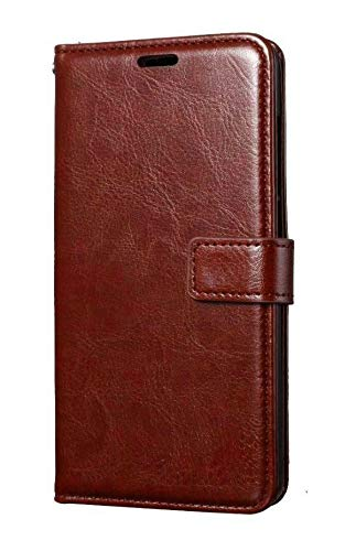 Leather Mobile Flip Cover for MI Note 5 PRO - Brown by ISAAC BREED