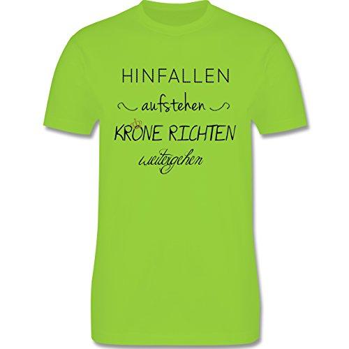 Statement Shirts - Krone richten und weiter gehen - Herren Premium T-Shirt Hellgrün