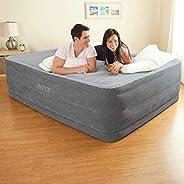 Intex 64418 Materasso Classic Matrimoniale Comfort Plush Hise Rise, Bicolor, con Pompa Interna,152 x 203 x 56