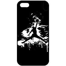 Custom Just Do It Jordania logo iPhone 5/5S caso, Jordan carcasa para iPhone 5/5S, Negro Teléfono Móvil