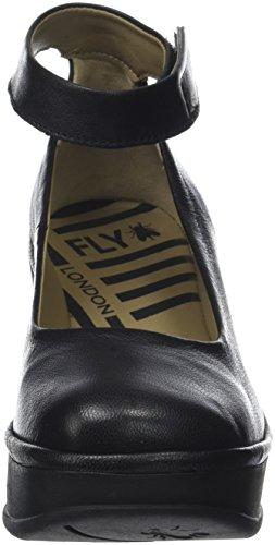 Fly London Jynx877fly, Scarpe con Cinturino alla Caviglia Donna Nero (Black)
