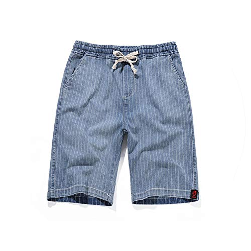 New Large Size 7XL Shorts Men's Summer Thin Section Knee Length Casual Shorts Men's Striped Loose Comfort Cotton Home Shorts,Blue,M Carpenter Baggy Jeans