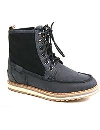 Pepe Jeans London 50083 Damen Leder Stiefelette gefüttert Boots